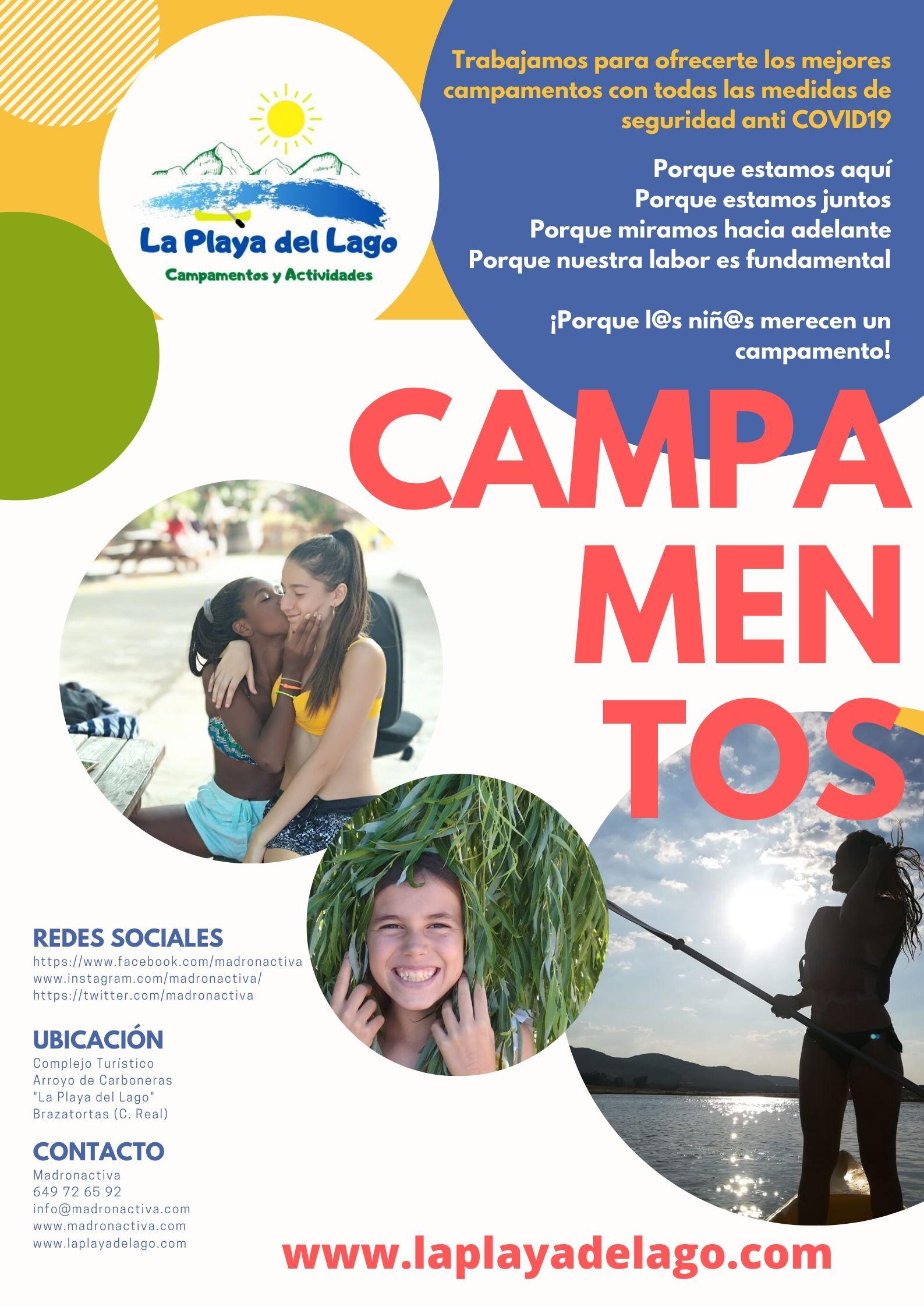 Cartel Campamentos de Verano 2020