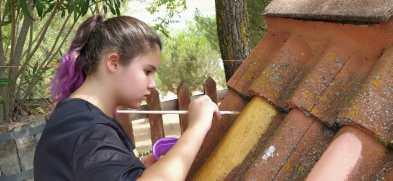 Pintando las tejas